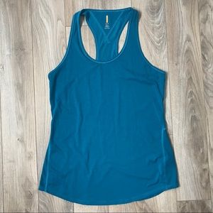 Lucy small racer back tank top teal blue